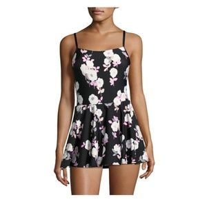 Kate Spade Floral Swim dress swimsuit one piece L